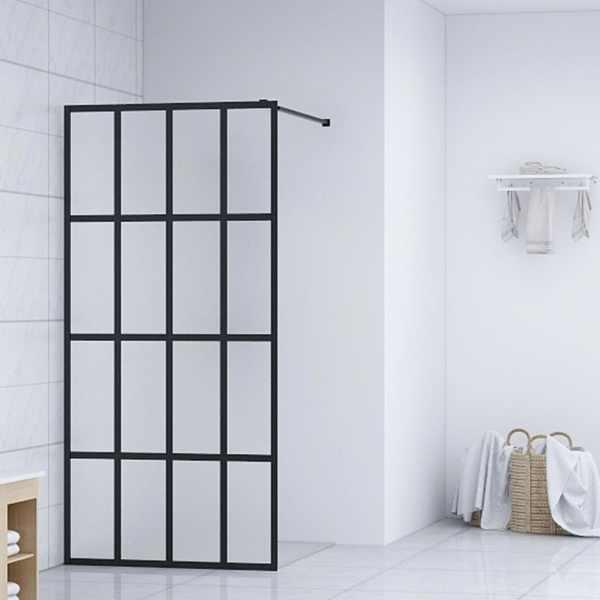 vidaXL Paravan de duș walk-in, 118 x 190 cm, sticlă securizată