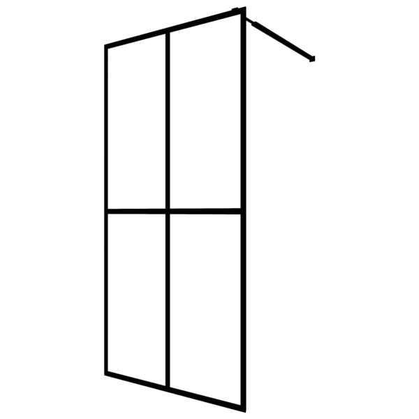 Paravan de duș walk-in, 140 x 195 cm, sticlă securizată