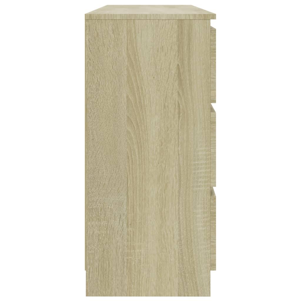 Servantă, stejar Sonoma, 140 x 35 x 76 cm, PAL