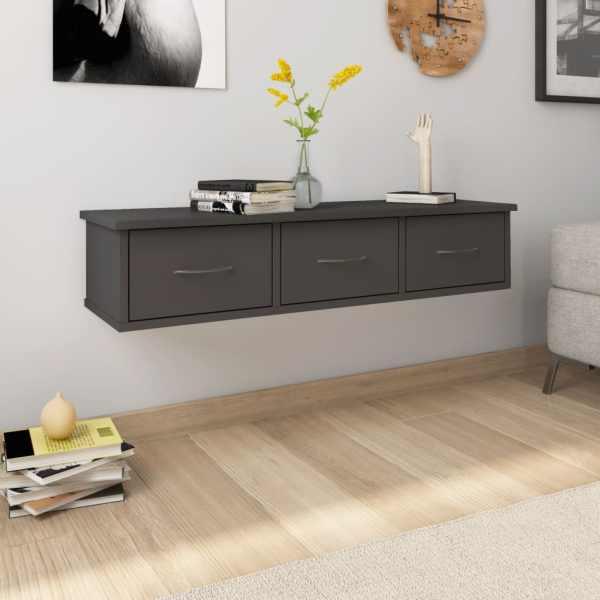vidaXL Dulap de perete cu sertare, gri, 88x26x18,5 cm, PAL