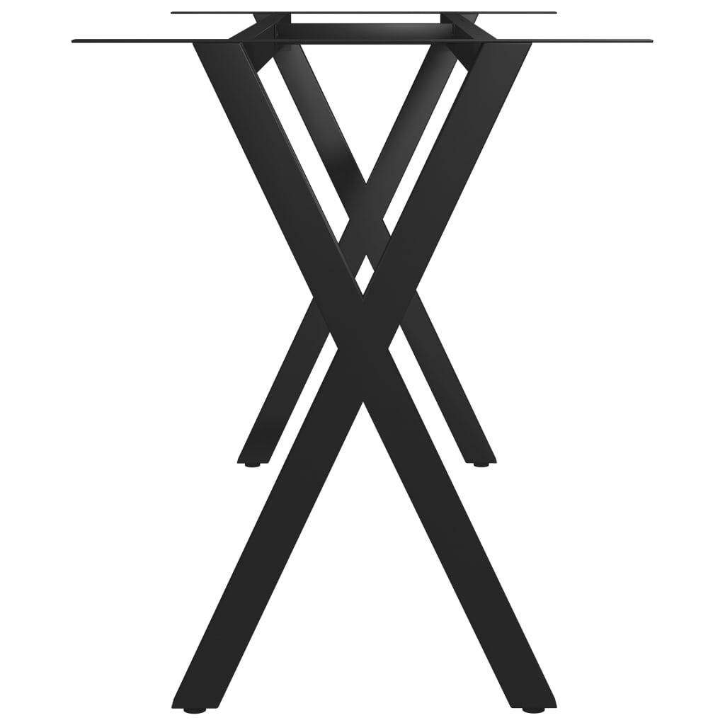 vidaXL Picioare de masă cu cadru în formă de X, 160 x 70 x 72 cm