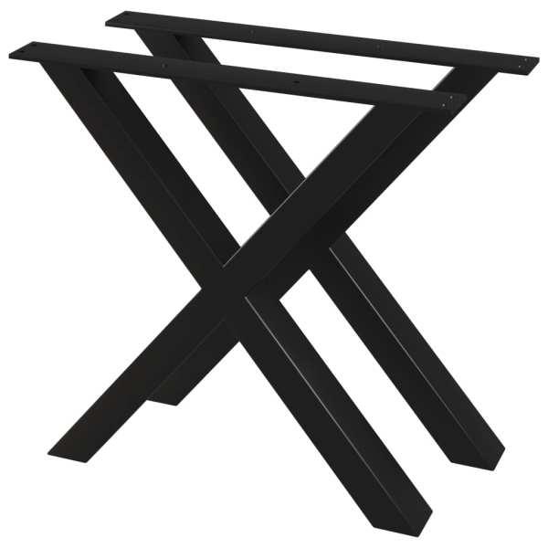 vidaXL Picioare de masă cu cadru în X, 2 buc., 80 x 72 cm