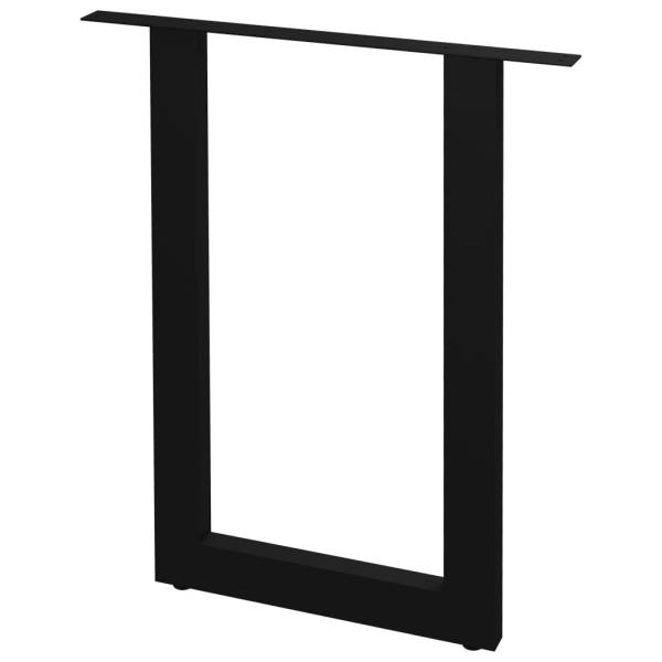 vidaXL Picioare de masă cu cadru în formă de O, 2 buc., 70 x 72 cm