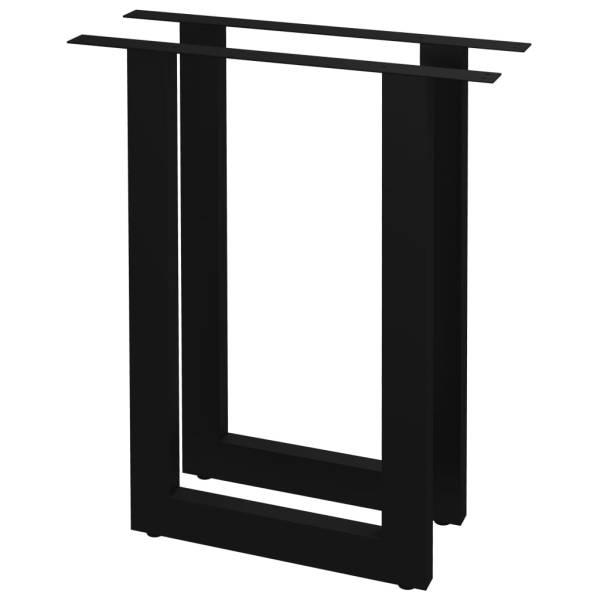 Picioare de masă cu cadru în formă de O, 2 buc., 70 x 72 cm