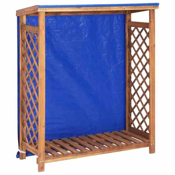 vidaXL Șopron de lemne, 105 x 38 x 118, lemn masiv de acacia