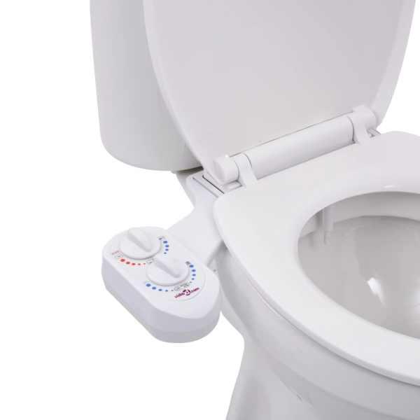 vidaXL Accesoriu bideu pentru capac WC, apă rece & apă caldă, o duză