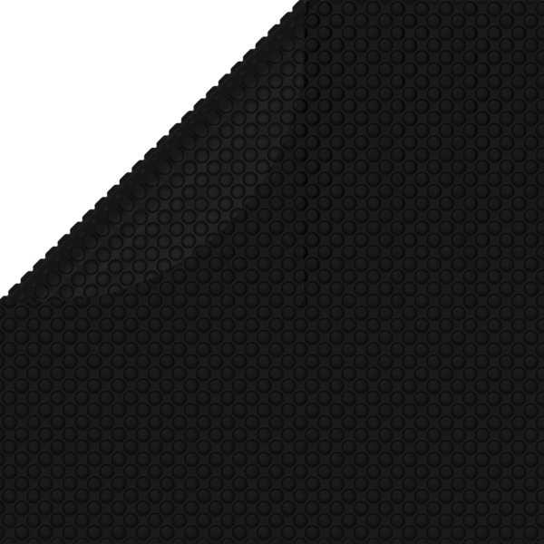 vidaXL Prelată piscină, negru, 381 cm, PE
