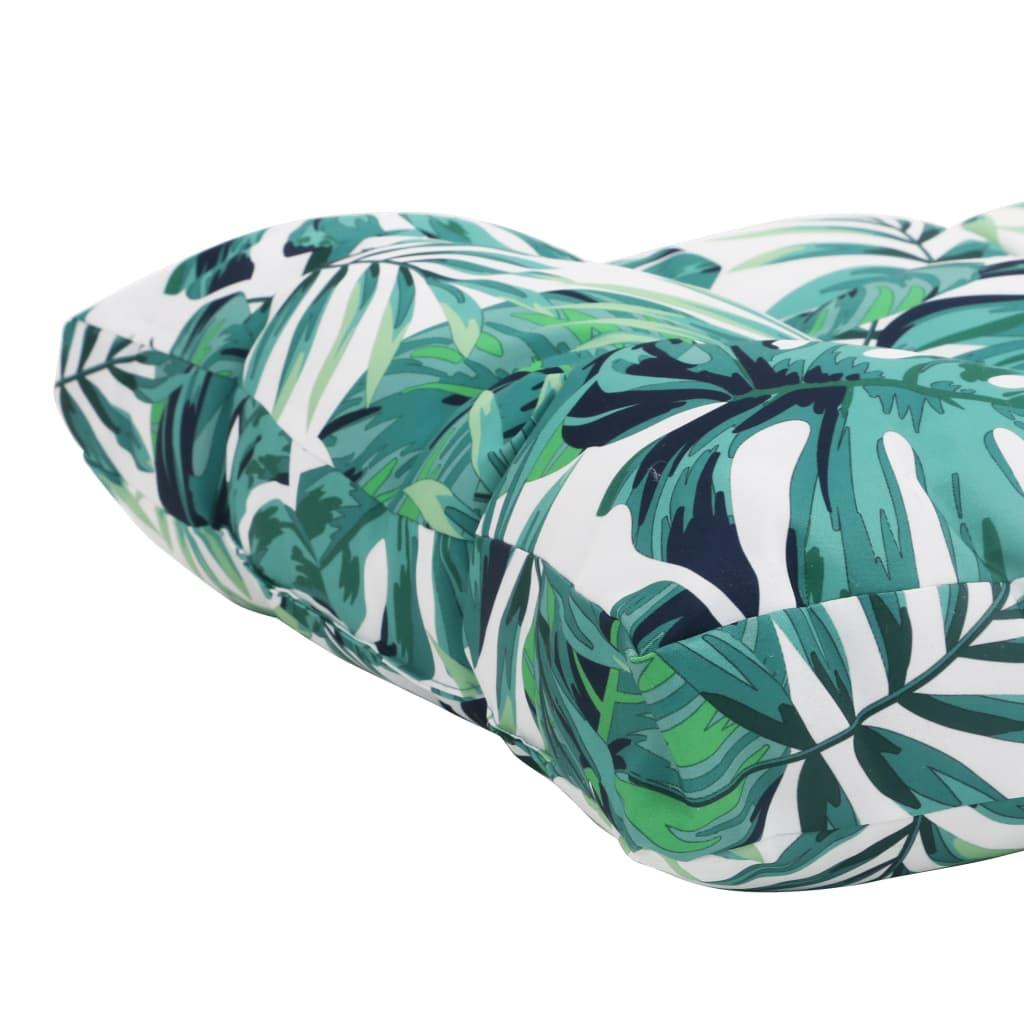 vidaXL Pernă scaun de grădină, frunze, 50x50x10 cm, material textil