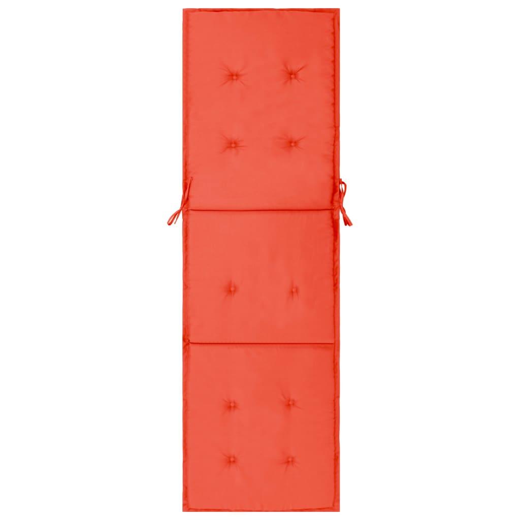 vidaXL Pernă de șezlong, roșu, 180 x 55 x 3 cm