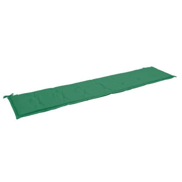 vidaXL Pernă pentru bancă de grădină, verde, 200 x 50 x 3 cm