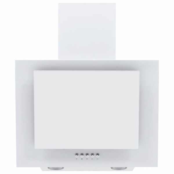vidaXL Hotă de perete alb 60 cm oțel inoxidabil și sticlă securizată