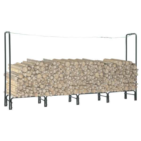 vidaXL Rastel pentru lemne de foc, antracit, 240x35x120 cm, oțel