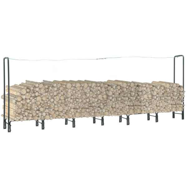 vidaXL Rastel pentru lemne de foc, antracit, 360x35x120 cm, oțel