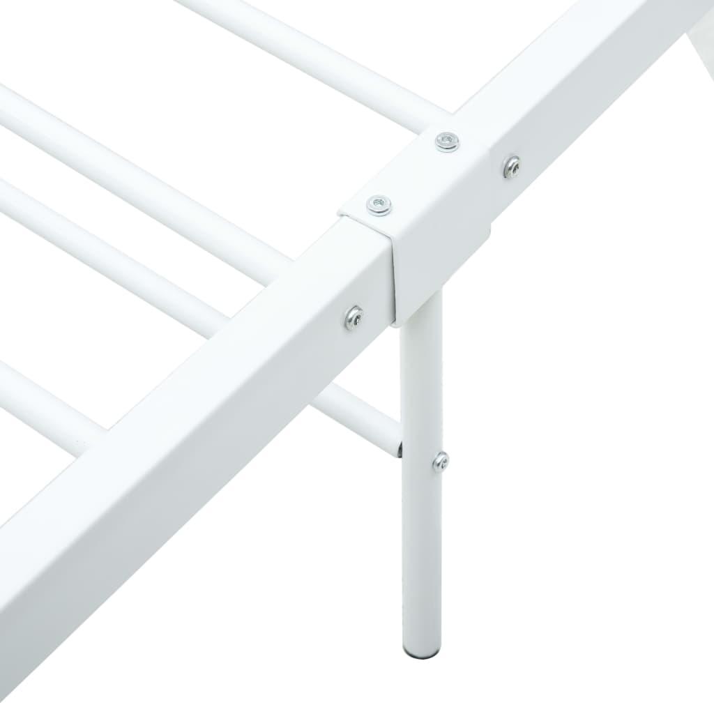 Cadru de pat, alb, 100 x 200 cm, metal