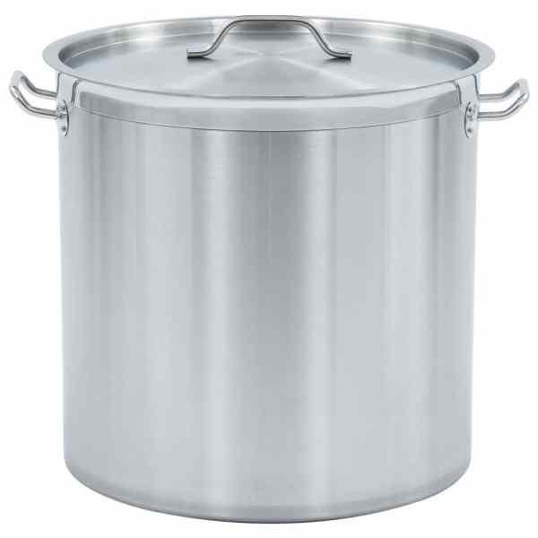 vidaXL Oală de supă, 45 x 45 cm, oțel inoxidabil, 71 L