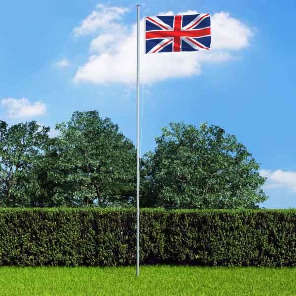 vidaXL Steag Marea Britanie, 90 x 150 cm