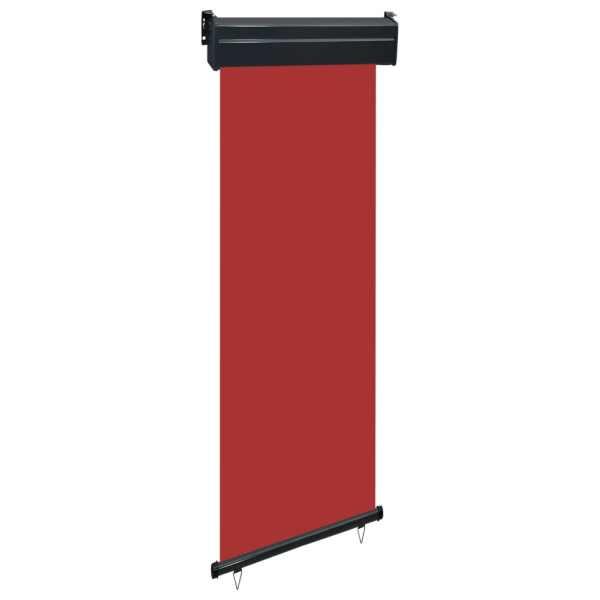 vidaXL Copertină laterală de balcon, roșu, 60 x 250 cm