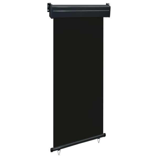 vidaXL Copertină laterală de balcon, negru, 80 x 250 cm