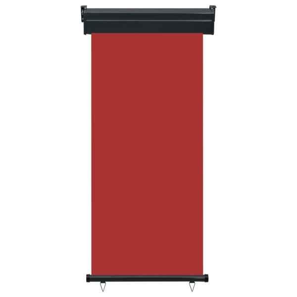 vidaXL Copertină laterală de balcon, roșu, 80 x 250 cm