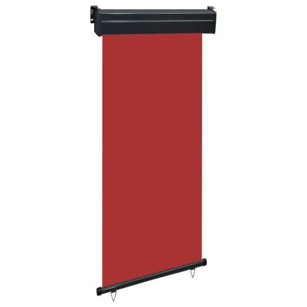 vidaXL Copertină laterală de balcon, roșu, 100 x 250 cm