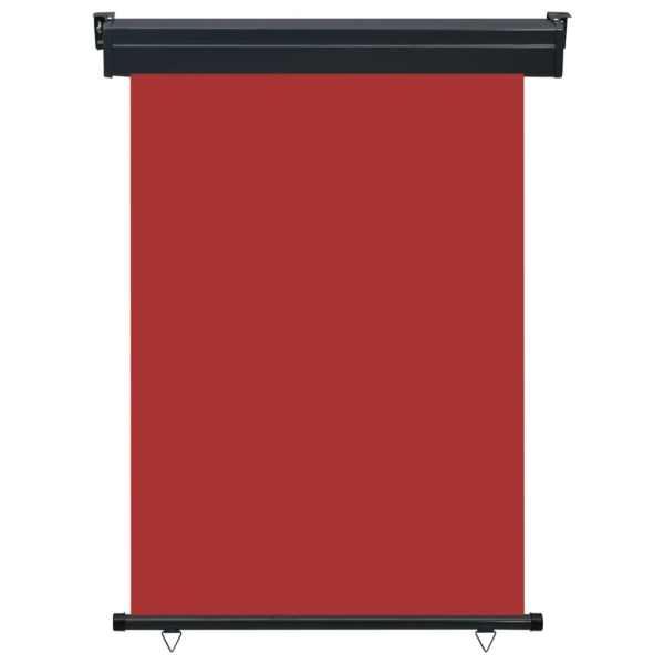 vidaXL Copertină laterală de balcon, roșu, 120 x 250 cm