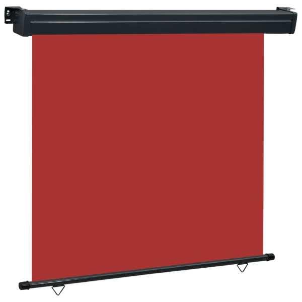 vidaXL Copertină laterală de balcon, roșu, 170 x 250 cm