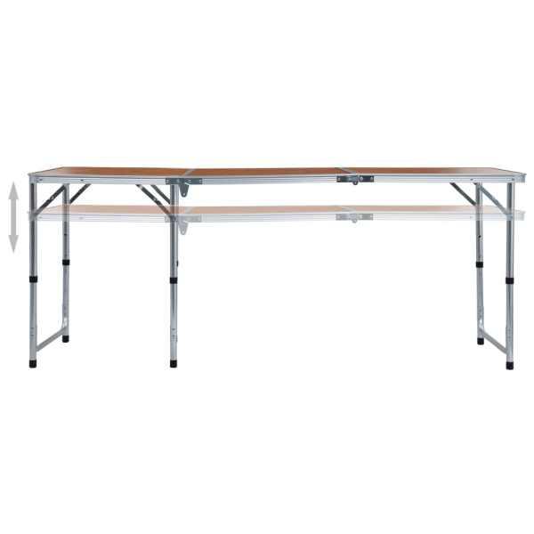vidaXL Masă de camping pliabilă, 180 x 60 cm, aluminiu