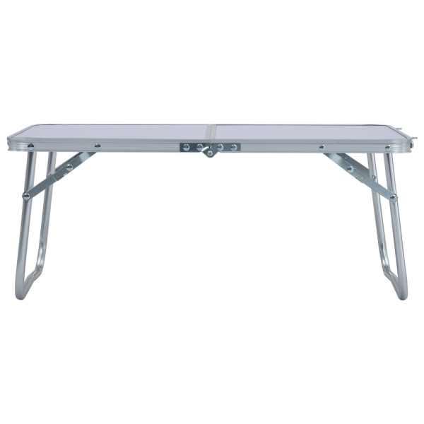 vidaXL Masă de camping pliabilă, alb, 60 x 40 cm, aluminiu