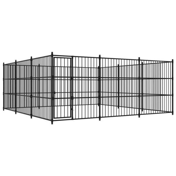 vidaXL Padoc de exterior pentru câini, 450x450x185 cm