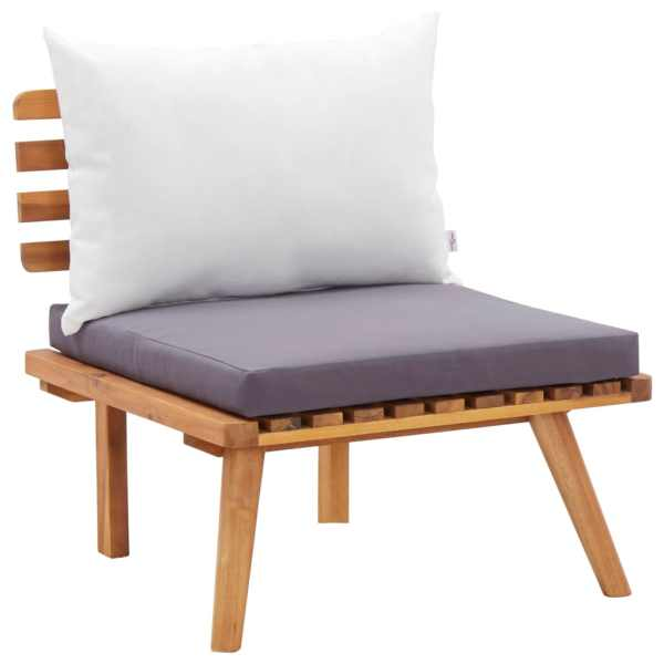 vidaXL Scaun de grădină cu perne, lemn masiv de acacia