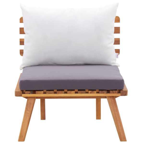 Scaun de grădină cu perne, lemn masiv de acacia