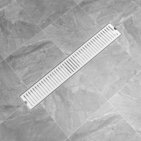Rigolă de duș, fante, 73 x 14 cm, oțel inoxidabil