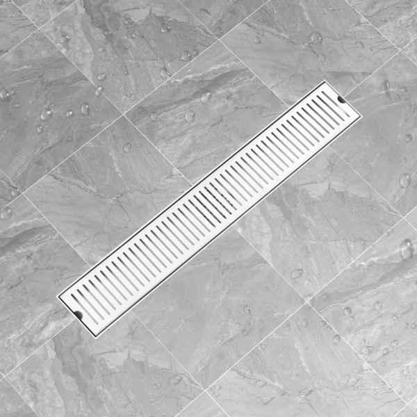 Rigolă de duș, fante, 83 x 14 cm, oțel inoxidabil