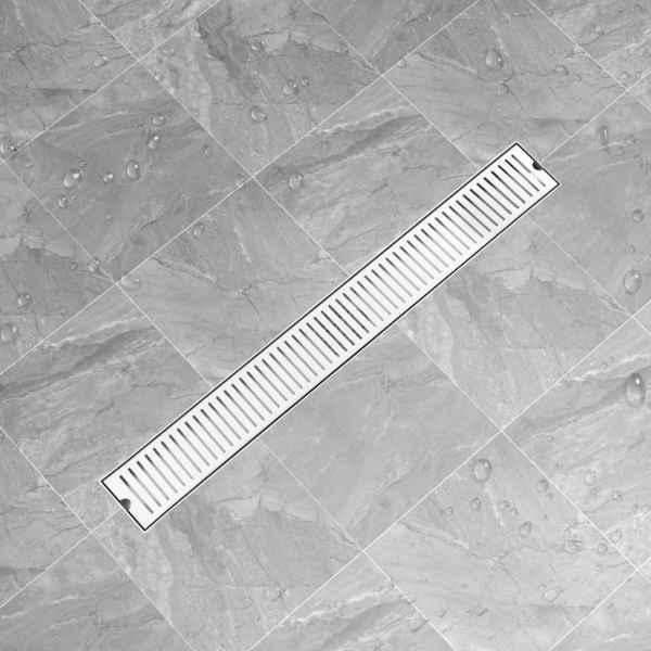 Rigolă de duș, fante, 93 x 14 cm, oțel inoxidabil