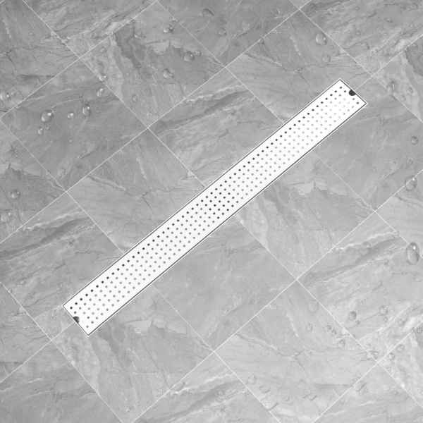 Rigolă de duș Dots, 103 x 14 cm, oțel inoxidabil