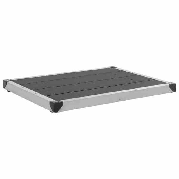 vidaXL Cădiță de duș de exterior gri 80×62 cm WPC și oțel inoxidabil
