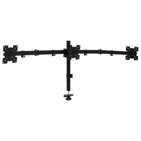 vidaXL Suport de monitor triplu pentru birou, 13″-23″