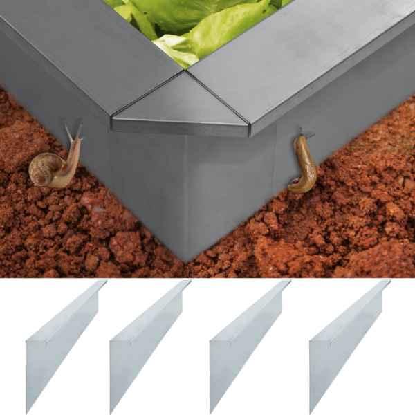 vidaXL Plăci gard anti-melci 4 buc. oțel galvanizat 50x7x25 cm 0,7 mm