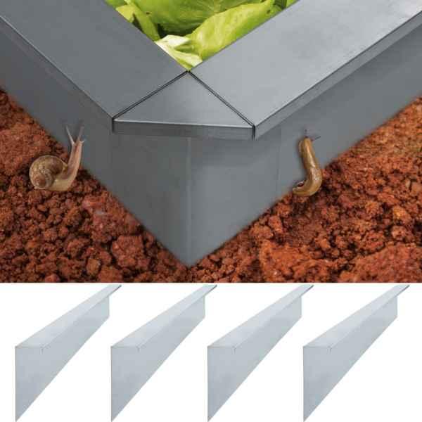 vidaXL Plăci gard anti-melci 4 buc. oțel galvanizat 170x7x25 cm 0,7 mm