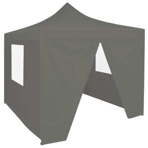 vidaXL Cort de petrecere pliabil cu 4 pereți, antracit, 2 x 2 m, oțel