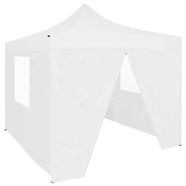 vidaXL Cort de petrecere pliabil cu 4 pereți, alb, 2 x 2 m, oțel