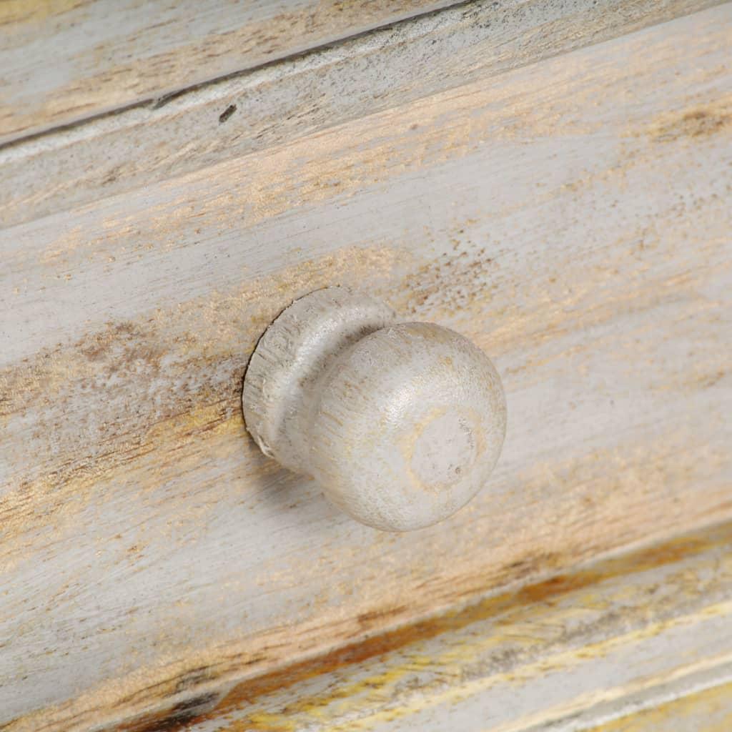 Servantă, gri, 80 x 35 x 70 cm, lemn masiv de mango