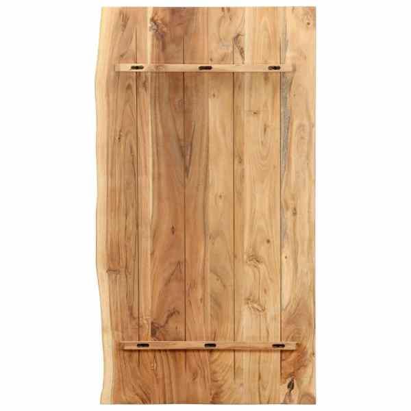 vidaXL Blat lavoar de baie, 100 x 55 x 2,5 cm, lemn masiv de acacia