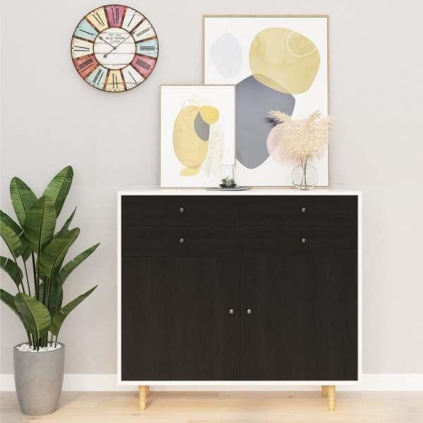 vidaXL Folie de mobilier autoadezivă, lemn închis, 500 x 90 cm, PVC