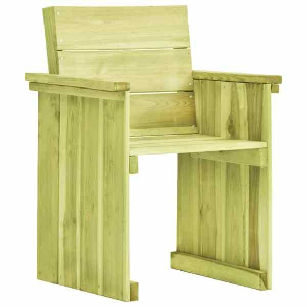 vidaXL Scaun de grădină, lemn de pin tratat