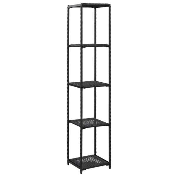 vidaXL Raft de depozitare, negru, 30 x 30 x 150 cm, poliratan