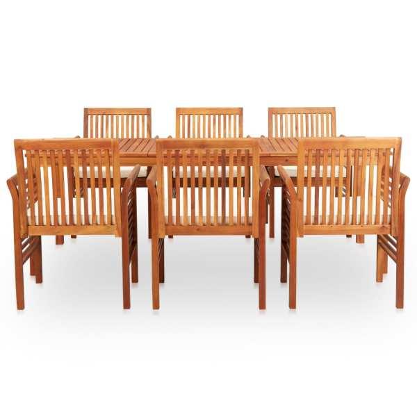 vidaXL Set mobilier de exterior cu perne 7 piese lemn masiv de acacia