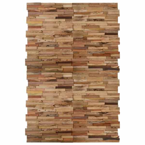 vidaXL Panouri placare pereți, 20 buc., lemn de tec reciclat, 2 m²