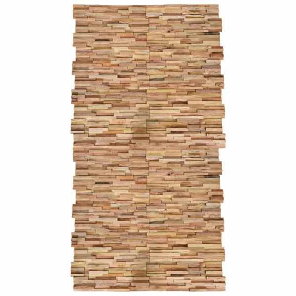 vidaXL Panouri placare perete 3D, 20 buc., 2 m², lemn masiv de tec