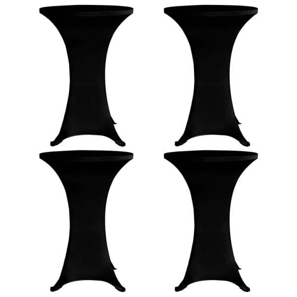 vidaXL Husă de masă cu picior Ø60 cm, 4 buc., negru, elastic